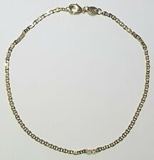 Ankle Bracelet Very Thin Flat Marina Gold Filled 10 inches Long Anklet  # 32
