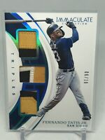 2019 Immaculate Fernando Tatis Jr Rookie Triples Jersey Relic /10 Padres