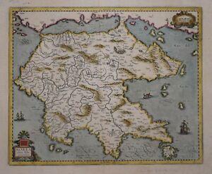 GREECE - PELOPONNESE - MOREA, FOR THE MERCATOR / HONDIUS ATLAS, CIRCA 1630.