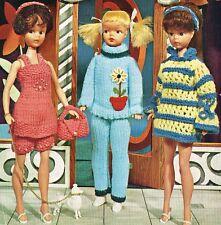 "12"" Teenage  Dolls clothes knitting pattern.  Laminated copy.(V Doll 29)"
