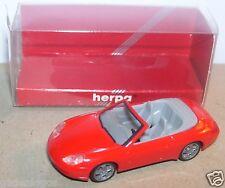 MICRO HERPA HO 1/87 PORSCHE 996 CABRIOLET rouge + rétroviseurs IN BOX idem 911