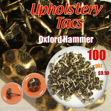 Upholstery Studs Pack Antique Studs - Bag 100 Tacks/Nails Tacs Oxford Hammered