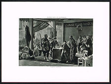 1890s Antique Enrollment Volunteers Alfred De Richemont Art Photogravure Print