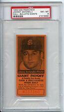 1958 San Francisco Johnny Antonelli Call Bulletin Giants PSA 8 Pop 4