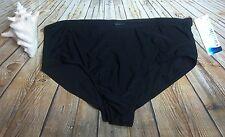 Catalina Womens Bikini Swim Bottoms Size 3X 22W 24W Black Slimming High Waist