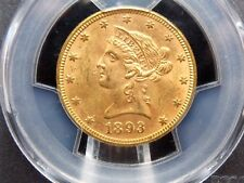 1893 $10 Liberty Head Gold Eagle PCGS MS62 East Coast Coin & Collectables #1