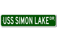 USS SIMON LAKE AS 33 Ship Navy Sailor Metal Street Sign - Aluminum