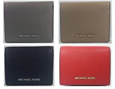 New Authentic Michael Kors Women's Jet Set Leather Card Holder Wallet CLEARANCE