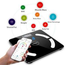 Practical Home Black Bluetooth Smart Digital Weighing Scale Body Fat Scale