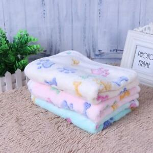 1PCS Pet Mat Paw Print Cat Dog Puppy Fleece Winter Warm Soft Blanket Bed Cushion