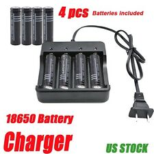 USA LED 18650 Charger For 3.7V Rechargeable With Battery UltraFire TU