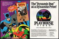 BATMAN The Movie (1966)__Original 1985 print AD / video promo advert__ADAM WEST