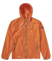 NWT POLO Ralph Lauren Jacket Hooded Windbreaker Rain Boat Coat Orange Medium