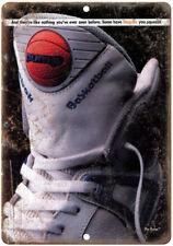 "Reebok Pump Basketball Vintage Ad 10"" X 7"" Reproduction Metal Sign ZE60"