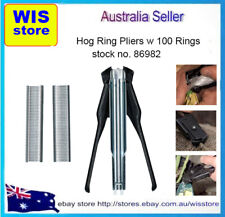 Hog Ring Plier Automatic Feed for Car Seat Upholstery Restoration with 100 Rings