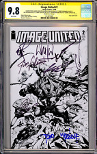 Image United #2 CGC SS 9.8 (1:100 Capullo Cover) Signed 8x!!