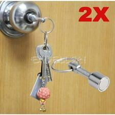 2x Super Strong Metal Neodymium Magnet Chain Split Key Hook Ring Keyring Holder