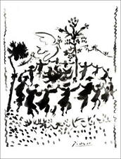 """Pablo PICASSO - Lithographie """"Vive la paix"""" 65x50cm"""