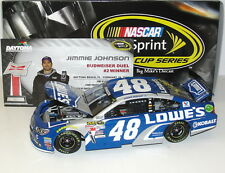 2015 #48 Jimmie Johnson Lowe's Budweiser Duel Win 1/24 Scale Diecast