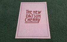 DATSUN CHERRY COUPE HATCHBACK ESTATE October 1980 UK A5 FOLDER BROCHURE