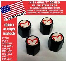 4 Billet Aluminum Mazda Evil M Mazdaspeed 3 5 6 Valve Stem Air Caps White/Red