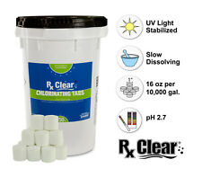 """Rx Clear 1"""" Inch 99% Trichloro Stabilized Swimming Pool Chlorine Tablets- 50 lbs"""