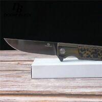 "7.9"" FH11 60-61HRC Knives Folding Knife D2 Blade G10 Camping Survival Pocket"
