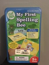 Leap Frog My First Spelling Bee in Collectible Storage Tin Ages 5 & up New
