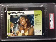PSA 10 GEM MINT  Venus Williams Triumphant Year  Grolier Card #135-14 Nice card