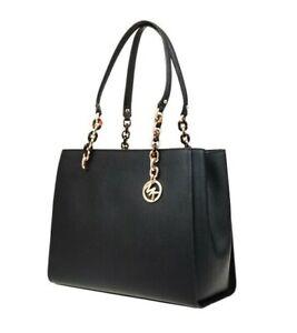 Michael Kors Bag / Bag Sofia LG Chain Tote Bag Black Gold