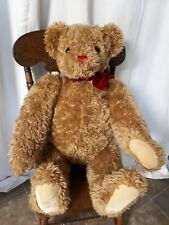 """RARE Huge Vermont Teddy Bear Co. Fully  Jointed 36"""" Tall Bow Tie"""