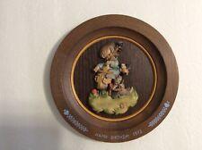 1972 Anri Wooden Happy Birthday Collector Plate by Ferrandiz