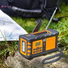 Portable NOAA Weather Channel AM FM Radio Solar Dynamo Hand Crank USB Charger