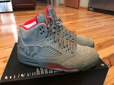 Nike Air Jordan 5 Retro Camo Dark Stucco / Red 136027-051 Size 11 NOBOXTOP