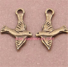 P675 20pc Antique Bronze dove Pendant Bead Charms Accessories wholesale