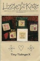 Lizzie Kate TINY TIDINGS with Embellishment Pouch E119 Christmas Ornaments