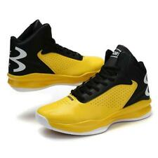 Shoes Men Sneaker Trail Basketball Athletic Sport High Top Athletic Yellow US 10