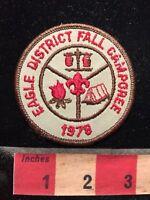 Vtg 1978 BSA Boy Scout Patch EAGLE DISTRICT FALL CAMPOREE 70WC