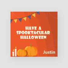 Personalised Handmade Halloween Card Spooktacular Web Pumpkin For Son Grandson