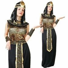 Eygptian Nile Queen Cleopatra Goddess Halloween Women Ladies Fancy Dress Costume