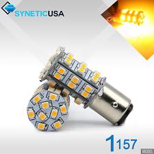 2x 1157/2396 LED Amber Yellow Turn Signal Parking 3528 45-SMD 195LM Light Bulbs