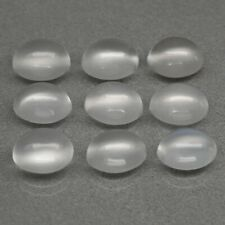 9pcs Lot 13.17ct t.w 8x6mm Oval Cabochon Natural White Moonstone Africa