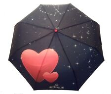 Premium Love Heart Umbrella Compact Lightweight Windproof Sun Protection - Blue