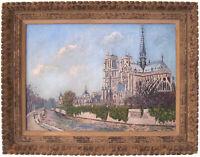 Original Framed Signed Oil, NOTRE DAME, French Artist A.R. Noulin, Circa 1950's