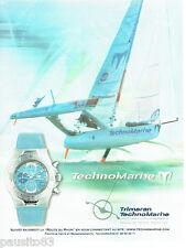 PUBLICITE ADVERTISING  026  2002  Technomarine montre  Trimaran route du Rhum