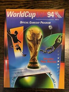 1994 World Cup USA Official Gameday Program with pullout chart