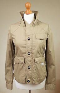 G-Star Raw Denim Fleet Jacket Size S Small UK Pure Cotton Zip Up Casual Khaki