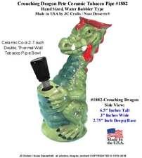 USA Modern Hookah Type Crouching Pete Dragon Ceramic Glass Tobacco Pipe (#1882)