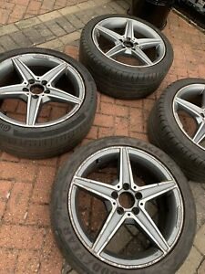 "Genuine Mercedes C Class W205 18"" AMG Line Alloy Wheels W204"