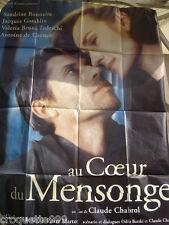 affiche cinema 1999 AU COEUR DU MENSONGE Chabrol Bonnaire Gamblin de Caunes